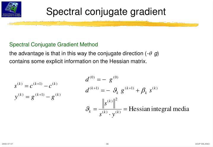 Spectral conjugate gradient