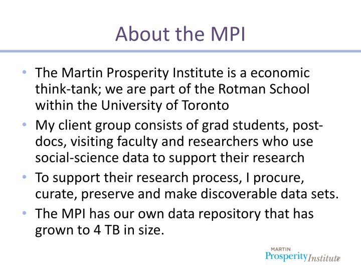 About the mpi