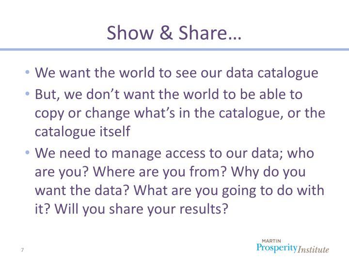 Show & Share…