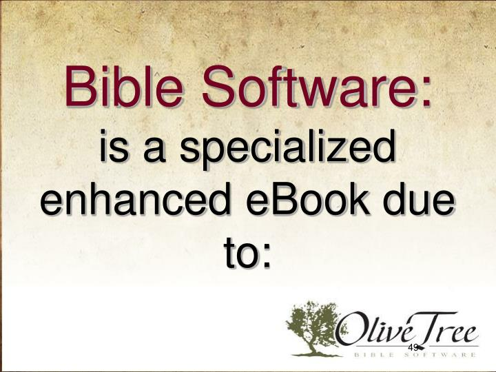 Bible Software: