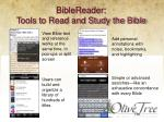 biblereader tools to read and study the bible