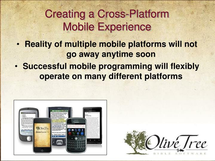 Creating a Cross-Platform