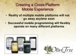 creating a cross platform mobile experience
