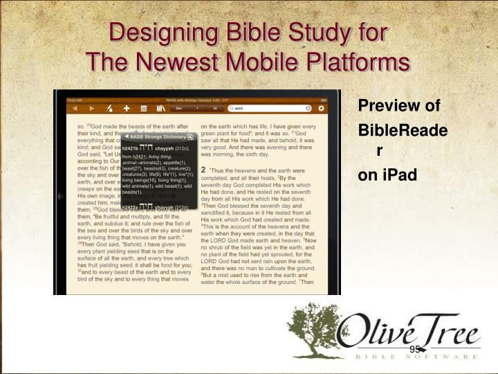 Designing Bible Study for