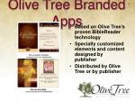 olive tree branded apps