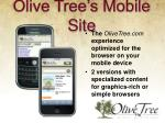 olive tree s mobile site