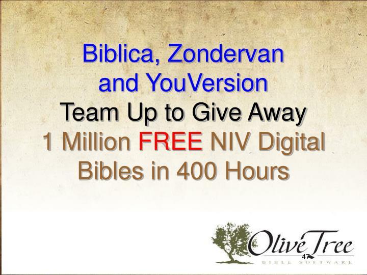Biblica, Zondervan