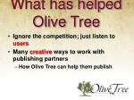 what has helped olive tree2