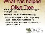 what has helped olive tree3