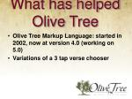what has helped olive tree4