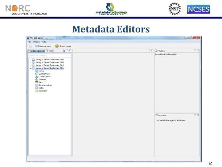 Metadata Editors