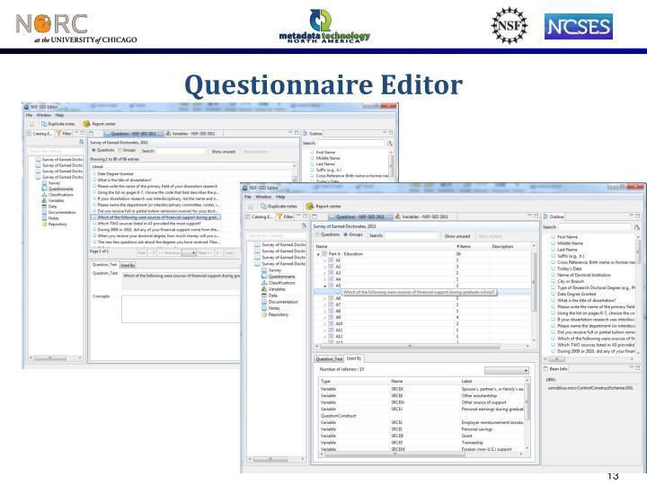 Questionnaire Editor