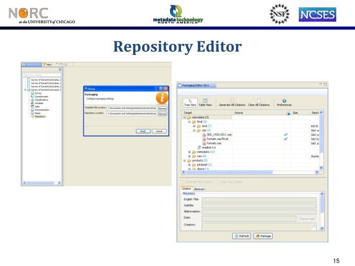 Repository Editor