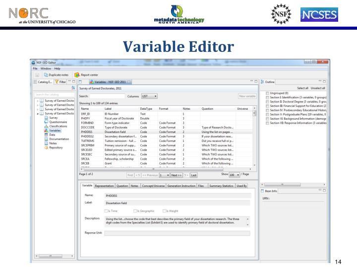 Variable Editor