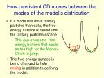 how persistent cd moves between the modes of the model s distribution