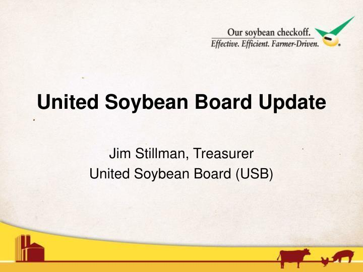 Jim stillman treasurer united soybean board usb
