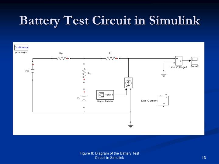 Battery Test Circuit in Simulink