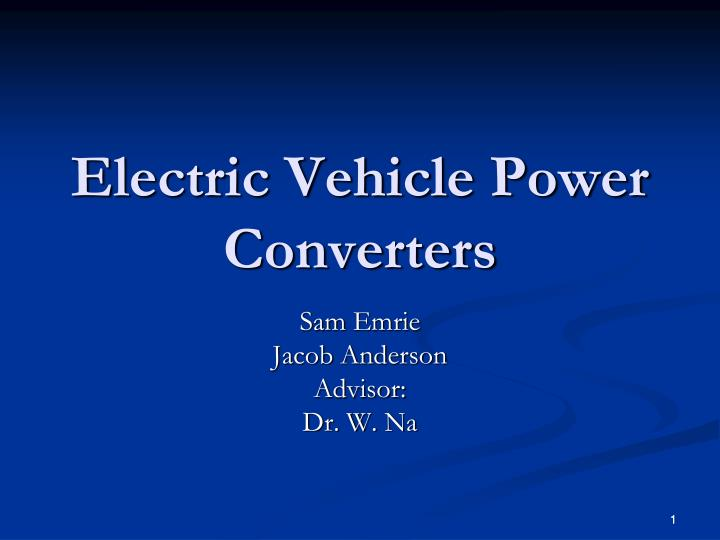 Electric vehicle power converters