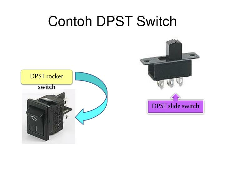 Contoh DPST Switch
