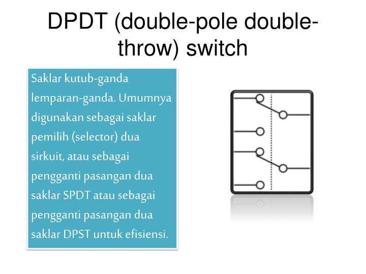 DPDT (double-pole double-throw) switch