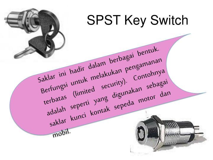SPST Key Switch