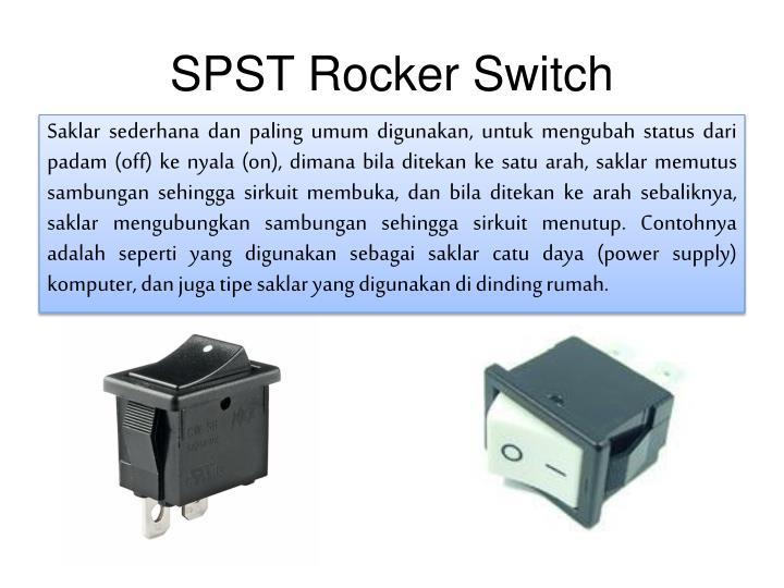 SPST Rocker Switch