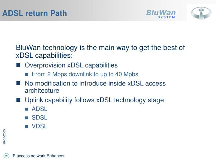 ADSL return Path