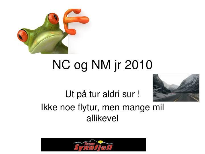 NC og NM jr 2010