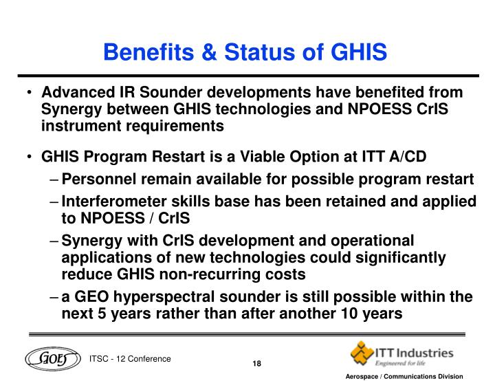 Benefits & Status of GHIS