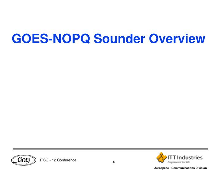 GOES-NOPQ Sounder Overview