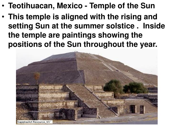 Teotihuacan, Mexico - Temple of the Sun