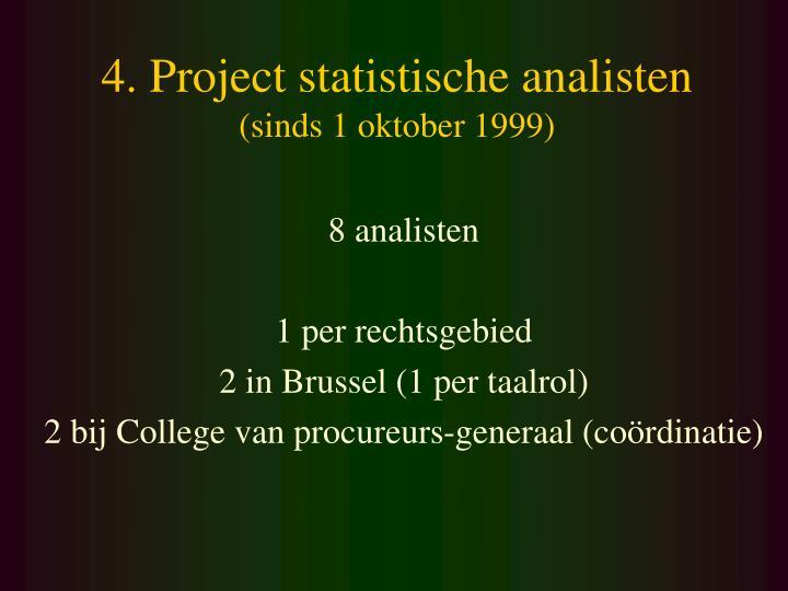 4. Project statistische analisten