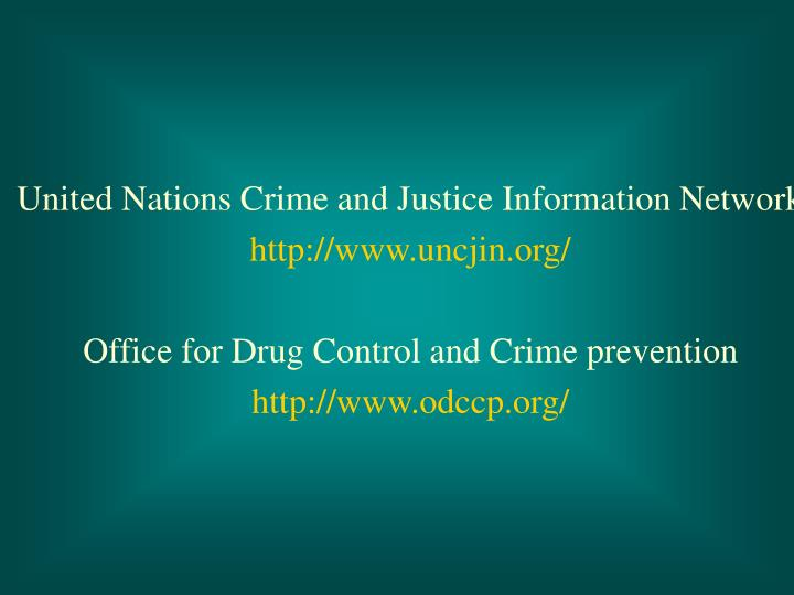 United Nations Crime and Justice Information Network