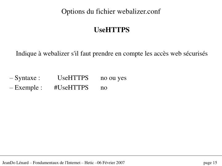 Options du fichier webalizer.conf