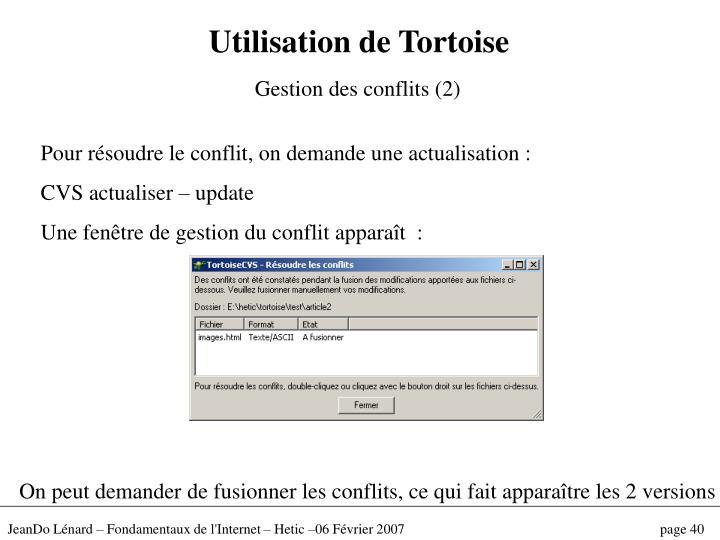 Utilisation de Tortoise