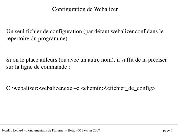 Configuration de Webalizer