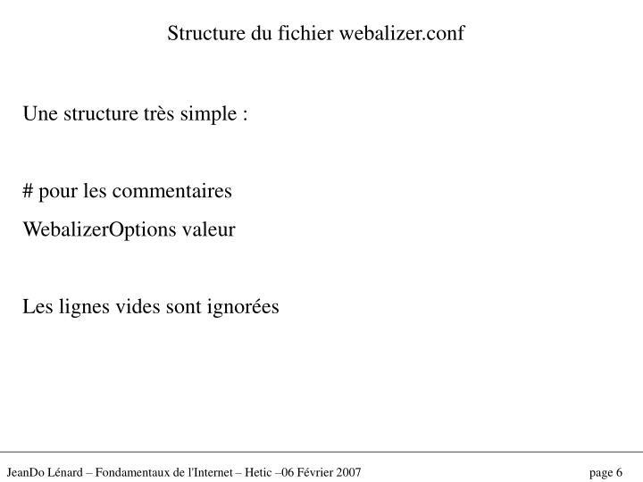 Structure du fichier webalizer.conf