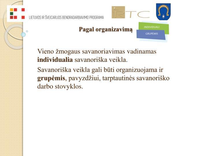 Pagal organizavimą