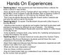 hands on experiences