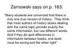 zarnowski says on p 163
