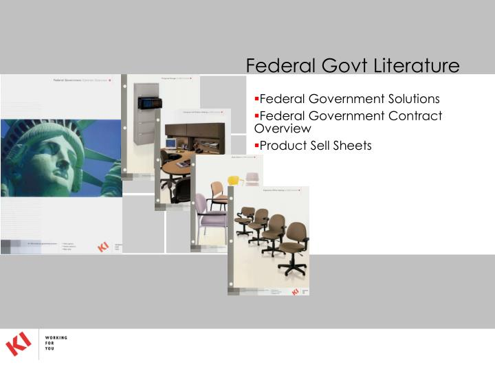 Federal Govt Literature