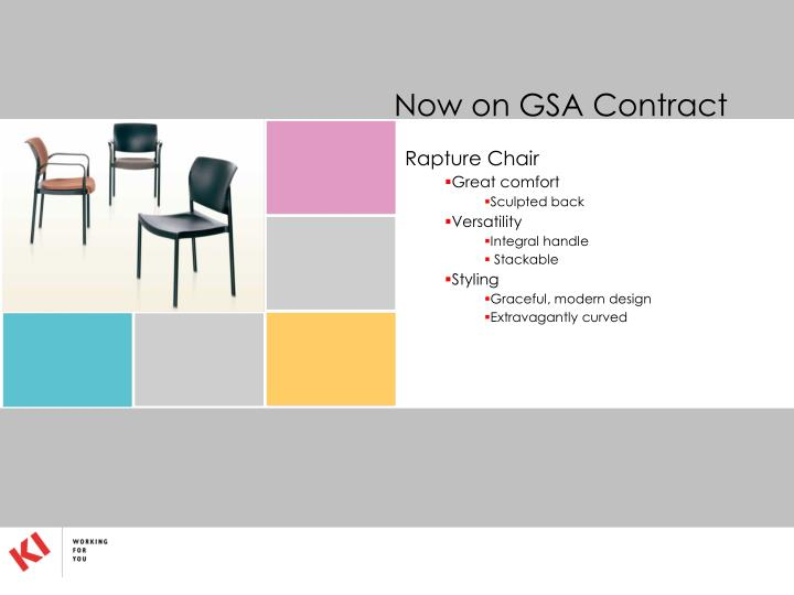 Now on GSA Contract