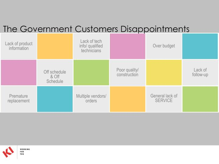 The Government Customers Disappointments