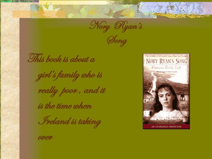 Nory  Ryan's