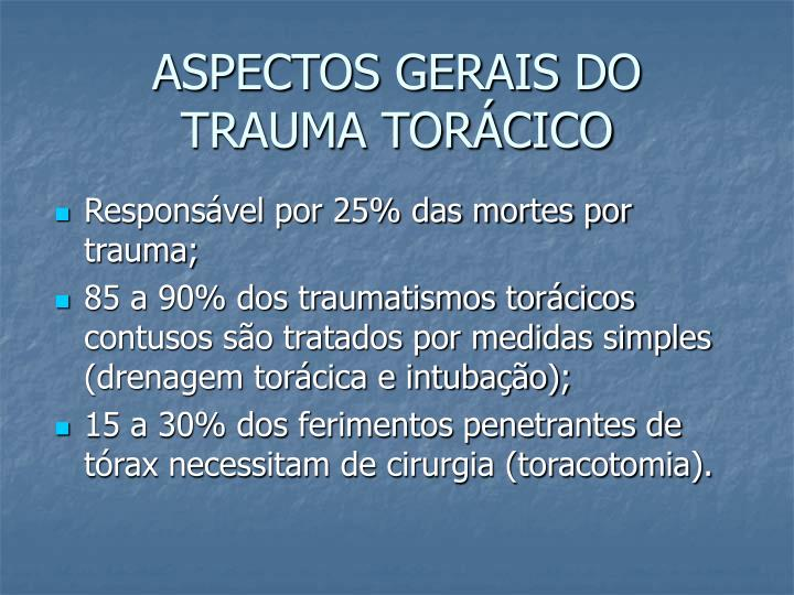 ASPECTOS GERAIS DO