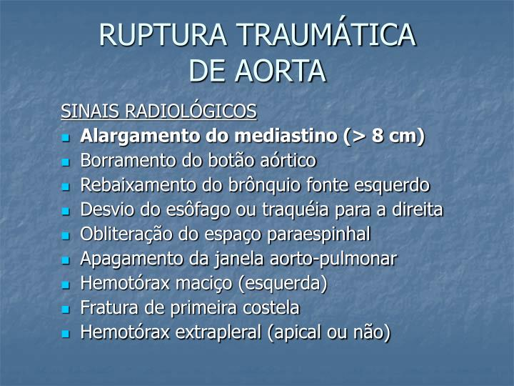 RUPTURA TRAUMÁTICA