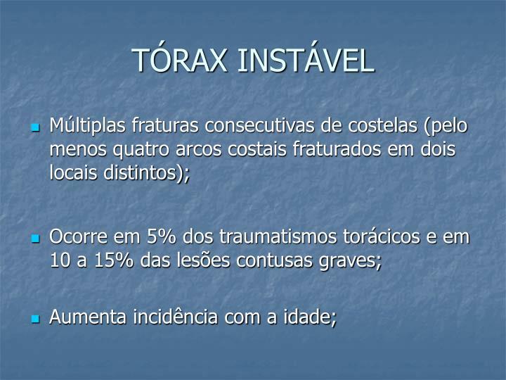 TÓRAX INSTÁVEL