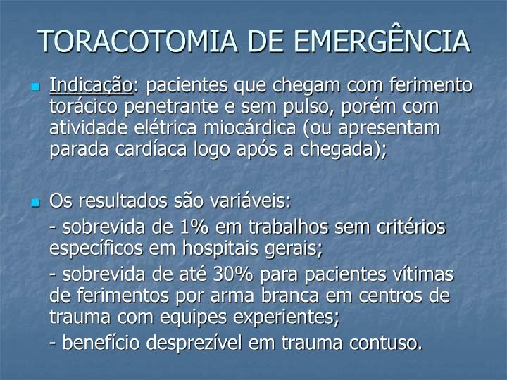 TORACOTOMIA DE EMERGÊNCIA