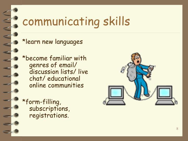 communicating skills