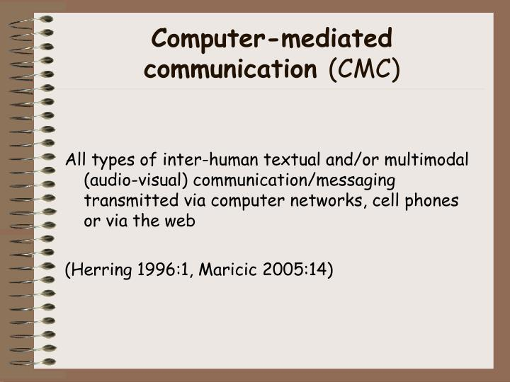 Computer mediated communication cmc